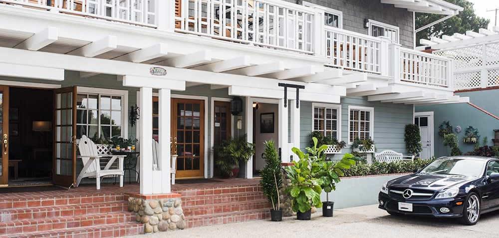 inn on summer hill entry - a santa barbara coast bed and breakfast